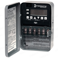 Intermatic ET8215C- 7-Day Electronic Astronomic Time Switch - NEMA 1 Indoor Steel Case - 2 Circuit - SPST - 30 Amps - 120/208/240/277 Volt