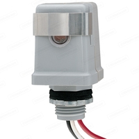 Intermatic K4123C - Photo Control - Thermal Type Photocell - Stem Mounting - Dusk-To-Dawn - 208-277 Volt