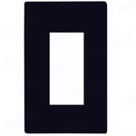 Decorator Wall Plate - Black - 1 Gang Image