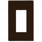 Decorator Wall Plate - Brown - 1 Gang Image