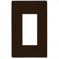 Brown - Screwless - 1 Gang - Decorator Wall Plate - Lutron Claro CW-1-BR