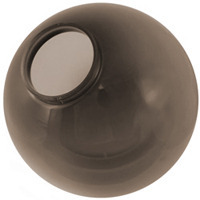 16 in. Smoke Acrylic Globe - 6 in. Extruded Neck Opening - American PLAS-16NS