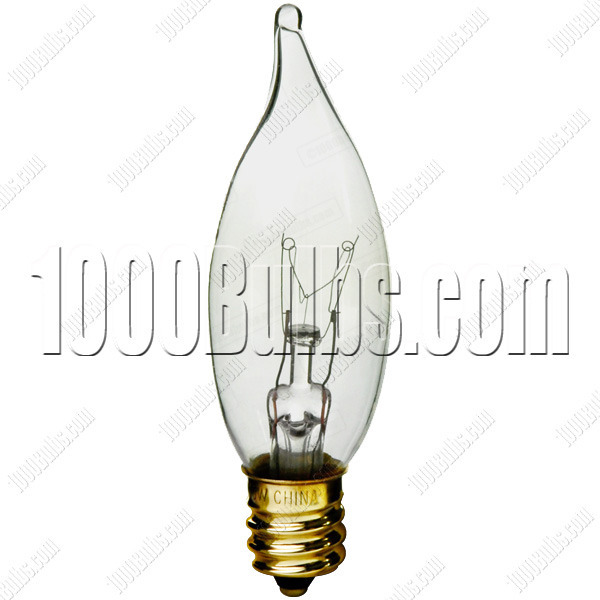 40 Watt - C9.5 - Clear - Bent Tip Image