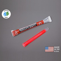 (10 Pack) Cyalume 9-08002 - 6 in. SnapLight Light Sticks - Red - 12 Hours - Industrial Grade