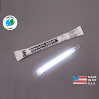 (10 Pack) Cyalume 9-08017 - 6 in. SnapLight Light Sticks - White - Hi-Intensity - 30 Minutes - Industrial Grade
