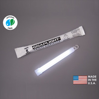 (10 Pack) Cyalume 9-08006 - 6 in. SnapLight Light Sticks - White - 8 Hours - Industrial Grade