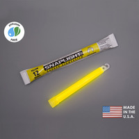 (10 Pack) Cyalume 9-08004 - 6 in. SnapLight Light Sticks - Yellow - 12 Hours - Industrial Grade