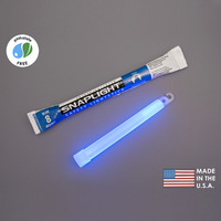 (10 Pack) Cyalume 9-08003 - 6 in. SnapLight Light Sticks - Blue - 8 Hours - Industrial Grade