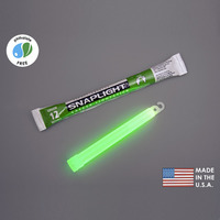 (10 Pack) Cyalume 9-08001 - 6 in. SnapLight Light Sticks - Green - 12 Hours - Industrial Grade