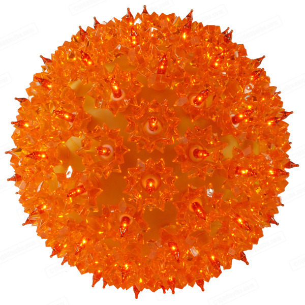 LED - 7.5 in. dia. Orange Starlight Sphere - Utilizes 100 LED Mini Lights Image