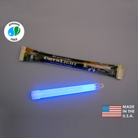 (10 Pack) Cyalume 9-55600PF - NSN 6260-01-178-5560 - 6 in. ChemLight Light Sticks - Blue - 8 Hours - Military Grade