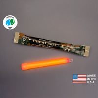 (10 Pack) Cyalume 9-97530PF - NSN 6260-01-195-9753 - 6 in. ChemLight Light Sticks - Orange - 12 Hours - Military Grade