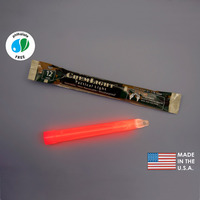 (10 Pack) Cyalume 9-55590PF - NSN 6260-01-178-5559 - 6 in. ChemLight Light Sticks - Red - 12 Hours - Military Grade