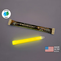(10 Pack) Cyalume 9-01360PF - NSN 6260-01-196-0136 - 6 in. ChemLight Light Sticks - Yellow - 12 Hours - Military Grade