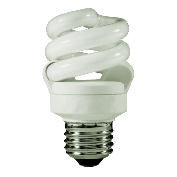 Spiral CFL - 9 Watt - 40W Equal - 4100K Cool White Image