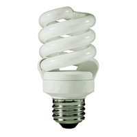 Spiral CFL - 13 Watt - 60 Watt Equal - Halogen Match - 925 Lumens - 3500 Kelvin - Medium Base - 120 Volt - TCP 48913-35