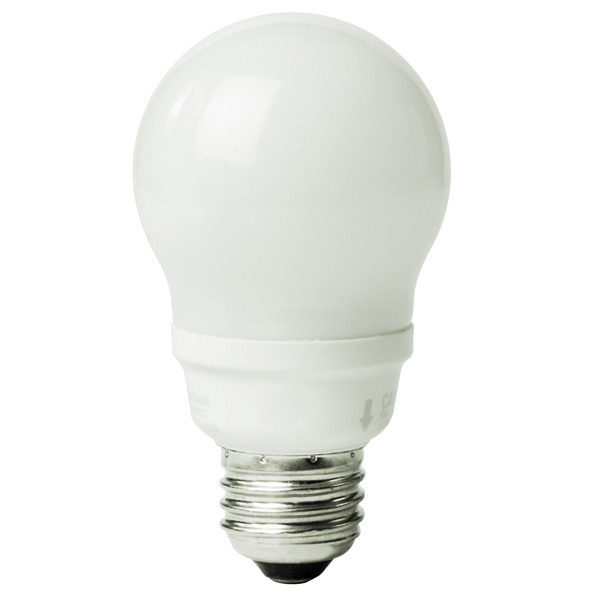 A-Shape CFL - 14 Watt - 60W Equal - 4100K Cool White Image