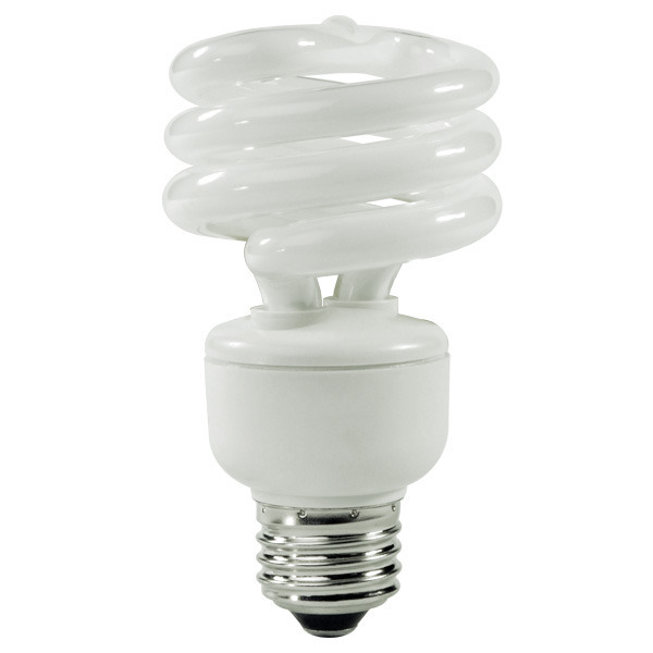 Spiral CFL - 14 Watt -  60W Equal - 4100K Cool White Image