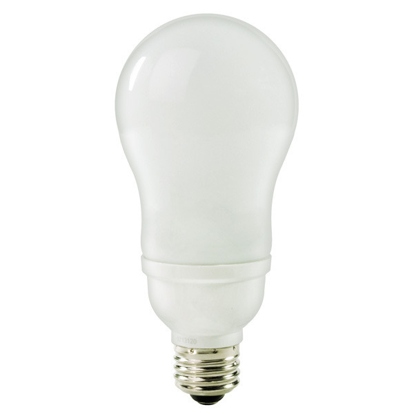 A-Shape CFL - 14 Watt - 60W Equal - 3000K Halogen White Image