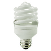 Spiral CFL - 18 Watt - 75W Equal - 4100K Cool White - 82 CRI - 72 Lumens per Watt