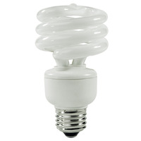 Spiral CFL - 19 Watt - 75 Watt Equal - Cool White - 1200 Lumens - 4100 Kelvin - Medium Base - 120 Volt - TCP 801019-41