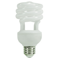 Spiral CFL - 20 Watt - 75W Equal - 2700K Warm White - 82 CRI - 60 Lumens per Watt
