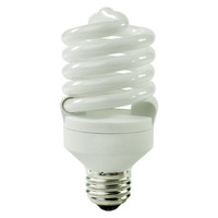 Spiral CFL - 23 Watt - 100 Watt Equal - Halogen Match - 1650 Lumens - 3500 Kelvin - Medium Base - 120 Volt - TCP 48923-35