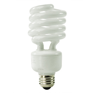 Screw In CFL 26 Watt - CFL - 100 W Equal - 5000K Full Spectrum - Min. Start Temp. 0 Deg. F - 80 CRI - 67 Lumens per Watt - 15 Month Warranty - Global Consumer Products 0121
