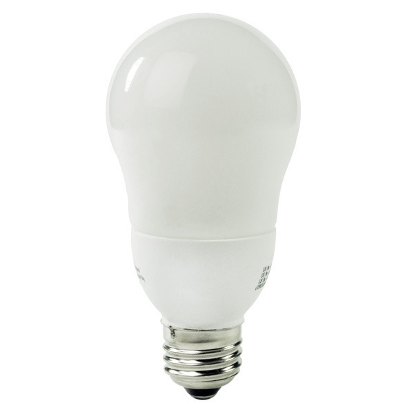 A-Shape CCFL - 8 Watt - 45W Equal - 4100K Cool White Image