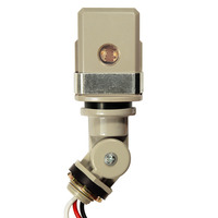 Thermal Type Photocell - Stem and Swivel Mounting - Dusk-to-Dawn - LED Compatible - 200-240 Volt - Precision Multiple ST-168