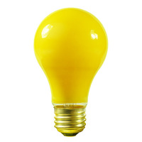 25 Watt - A19 - Yellow - 1000 Life Hours - 130 Volt - Bug Light