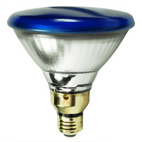 85 Watt - PAR38 - Incandescent Reflector - Blue - Flood - Medium Skirt Base - 2,000 Life Hours - 120 Volt