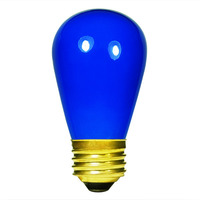 11 Watt - S14 Light Bulb - Opaque Blue - Medium Brass Base - 130 Volt - Satco S3963