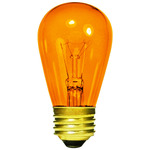 11 Watt - S14 - Transparent Amber - 3000 Life Hours - 130 Volt