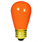 11 Watt - S14 - Opaque Orange - 2500 Life Hours - 130 Volt