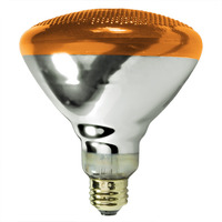 100 Watt - Amber - BR38 - Weatherproof - Flood - 130 Volt - 5,000 Life Hours