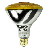 100 Watt - BR38 Incandescent Light Bulb - Yellow - Medium Base - 120 Volt - Satco S4426