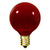 10 Watt - G12 Globe Light Bulb - Transparent Red Thumbnail