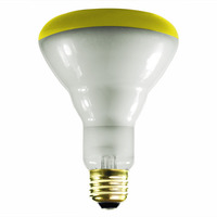 65 Watt - BR30 - Yellow - Flood - 130 Volt - 5000 Life Hours