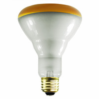 75 Watt - BR30 - Amber - Flood - 120 Volt - 2,000 Life Hours