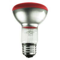 50 Watt - Red - R20 Reflector - 130 Volt - 2500 Life Hours