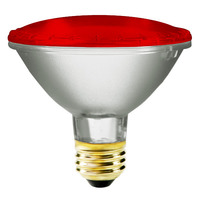PAR30 - 75 Watt - Red Halogen Lamp - 2500 Life Hours - 120 Volt - Bulbrite 683757