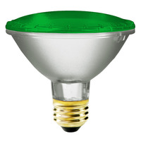 75 Watt - PAR30 - Green - Halogen - 2,500 Life Hours - 120 Volt