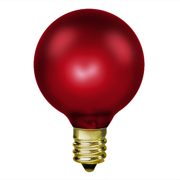 15 Watt - Ruby Red - G16.5 (G50) Image