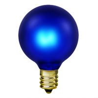 15 Watt - Cobalt Blue - G16.5 (G50) - Candelabra Base - 2 in. Dia - 130 Volt - Amusement Light Bulb