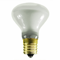 25 Watt - R14 Incandescent Light Bulb - Frosted - Intermediate Brass Base - 120 Volt - Satco S3205