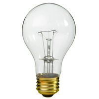100 Watt - A19 - Rough Service - Clear - 20,000 Life Hours - 800 Lumens - 120 Volt