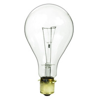 620 Watt - PS40 Incandescent Light Bulb - Clear - Mogul Brass Base - 130 Volt - PLT IN-0620PS40CL13