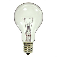 40 Watt - A15 - Clear - Ceiling Fan Bulb - Intermediate Base - 2,500 Life Hours - 340 Lumens - 130 Volt