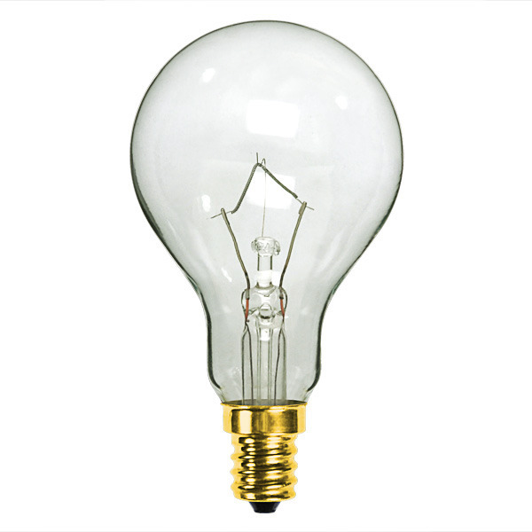 60 Watt A15 Clear Ceiling Fan Bulb